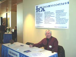 Rick Hauenstein at the LRA booth during the Business to Business Showcase in Round Rock, Texas